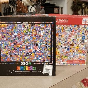 Set of 2 Collage Puzzles